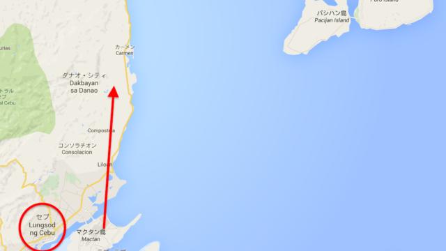 カモテス諸島の位置