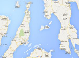 カモテス諸島の位置①