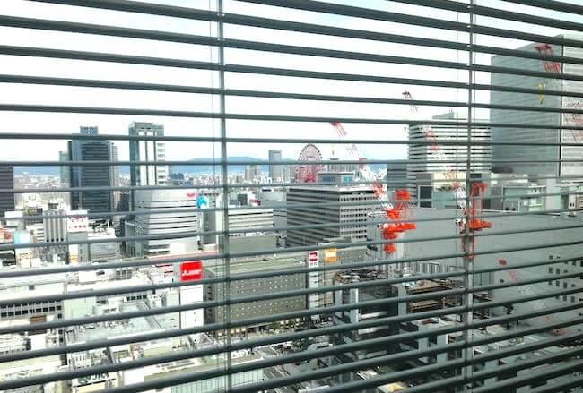 パーソルキャリア大阪オフィスから見た景色