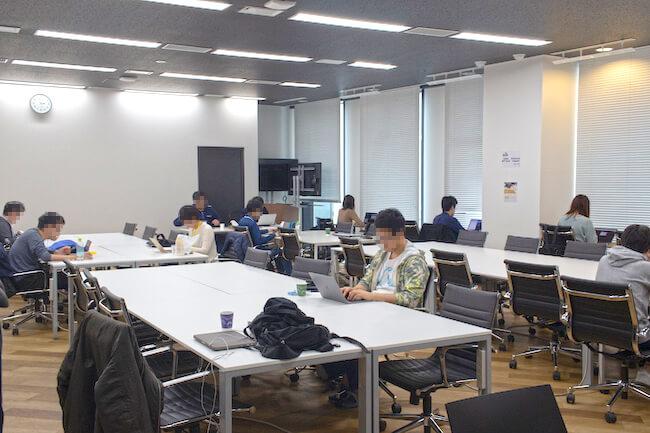 DMM WEBCAMP渋谷校の風景