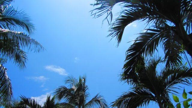 フィリピンでの思い出の夏空